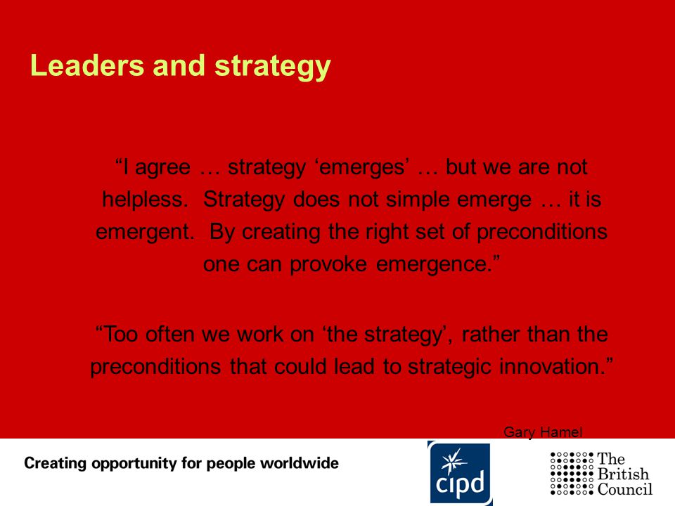 Leaders and strategy