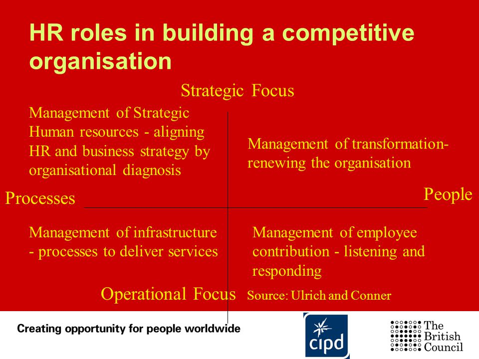 HR roles in building a competitive organisation