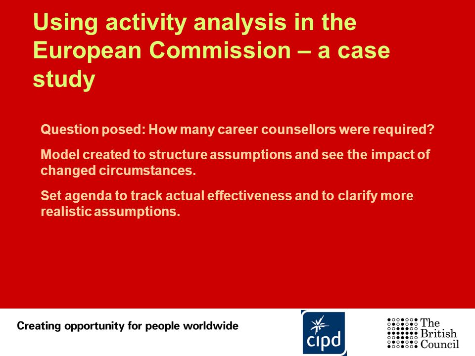Using activity analysis in the European Commission – a case study