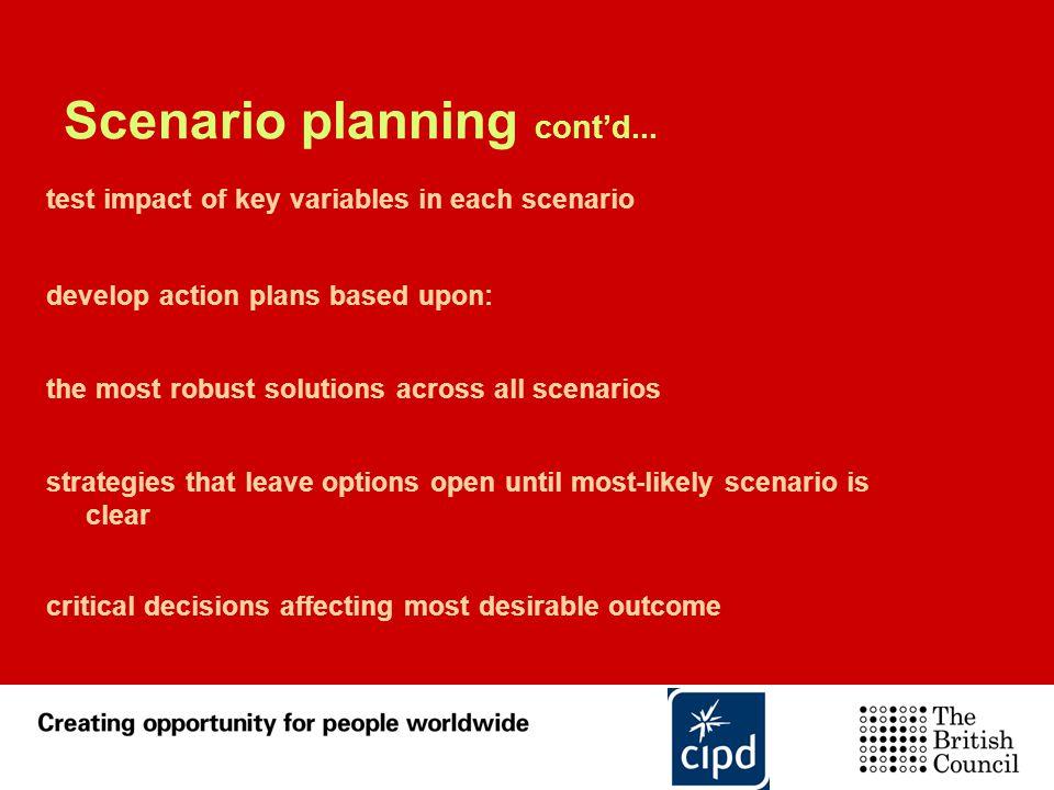Scenario planning cont'd...