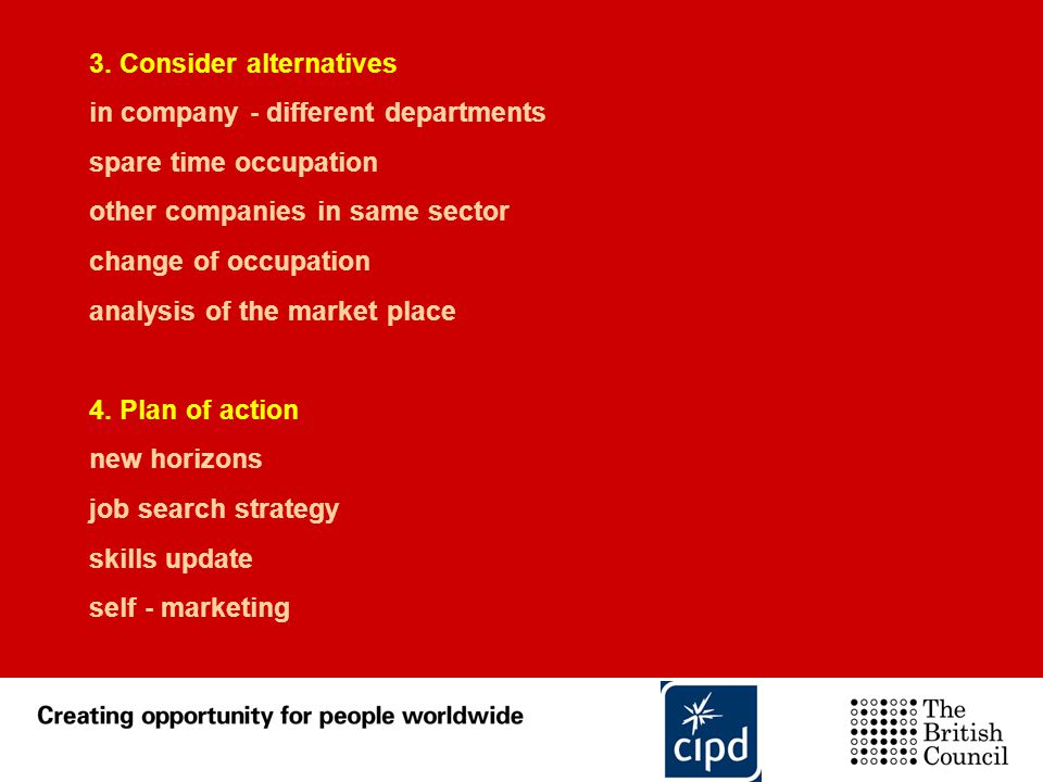 3. Consider alternatives
