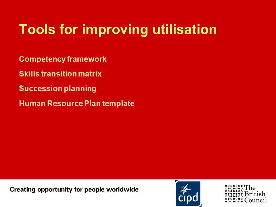 Tools for improving utilisation