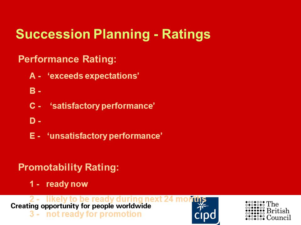 Succession Planning - Ratings
