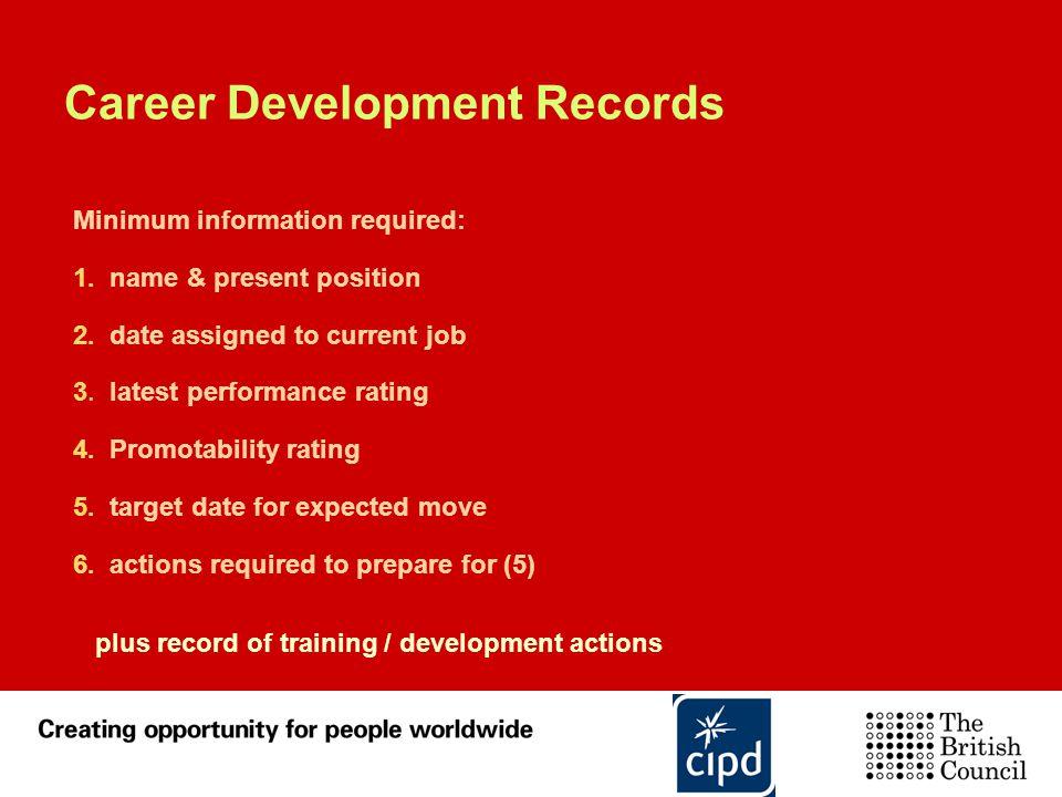 Career Development Records