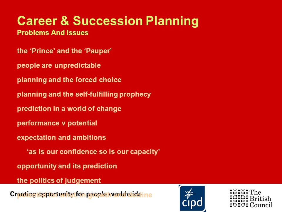 Career & Succession Planning Problems And Issues