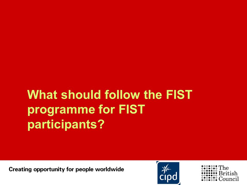 What should follow the FIST programme for FIST participants
