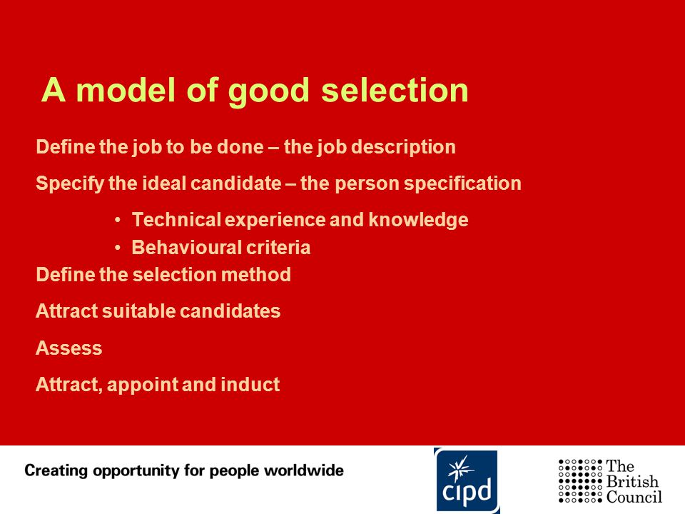 A model of good selection
