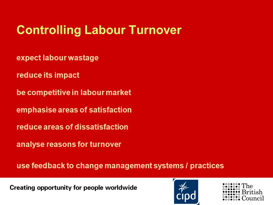 Controlling Labour Turnover