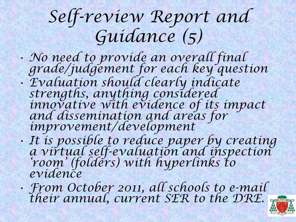 Self-review Report and Guidance (5)