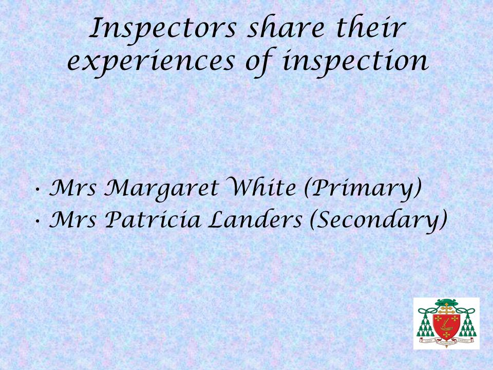 Inspectors share their experiences of inspection
