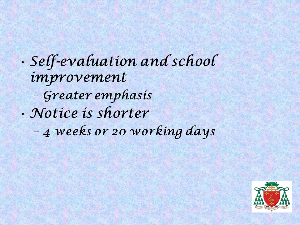 Self-evaluation and school improvement