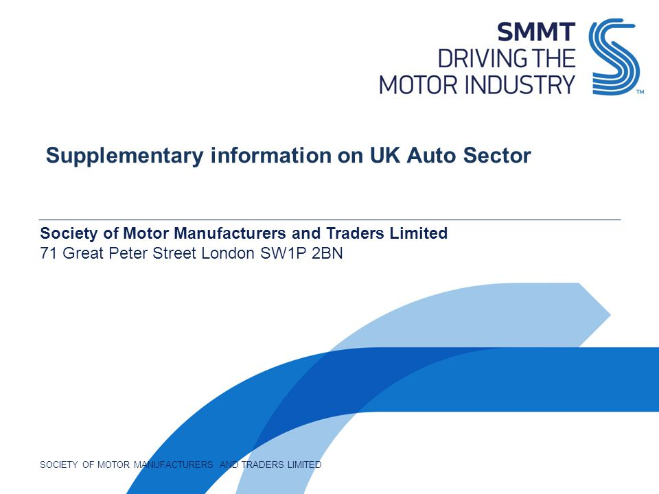 Supplementary information on UK Auto Sector