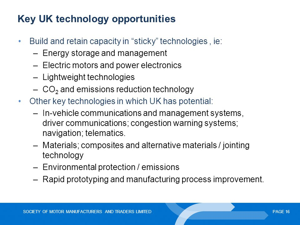 Key UK technology opportunities