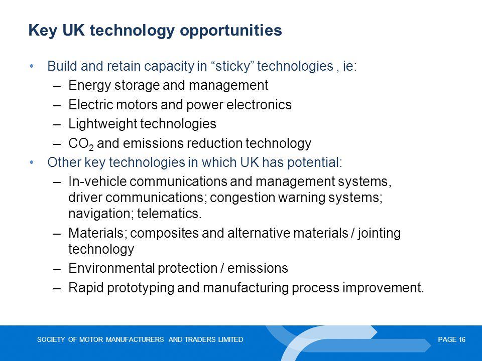 Key UK technology opportunities