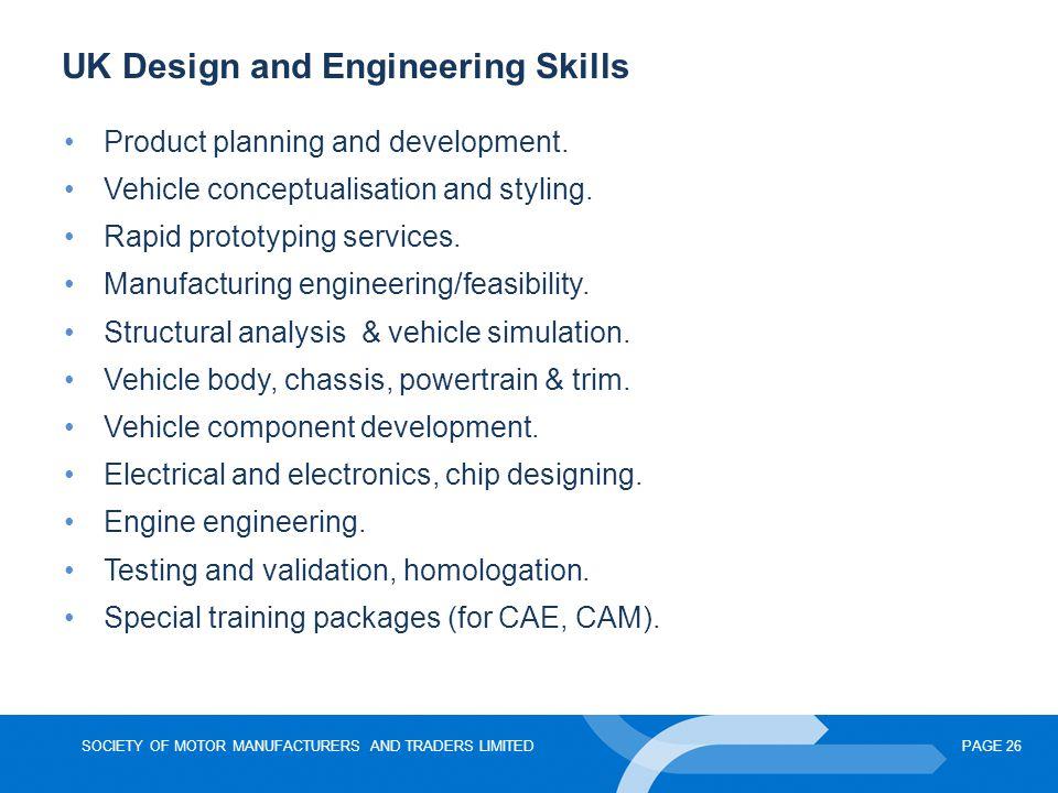 UK Design and Engineering Skills