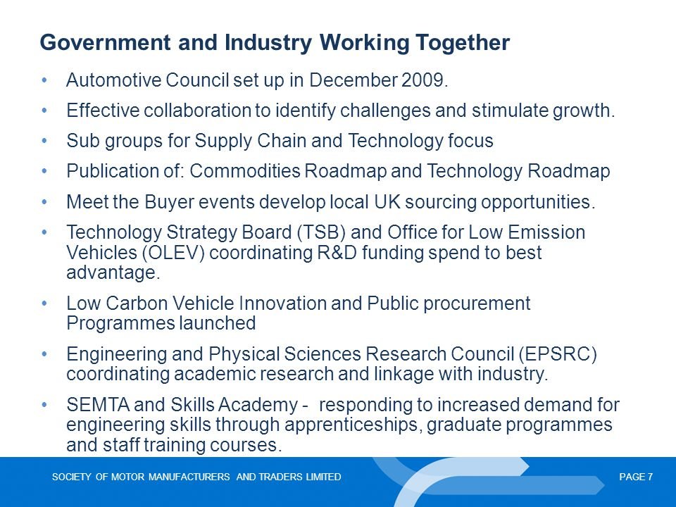 Government and Industry Working Together