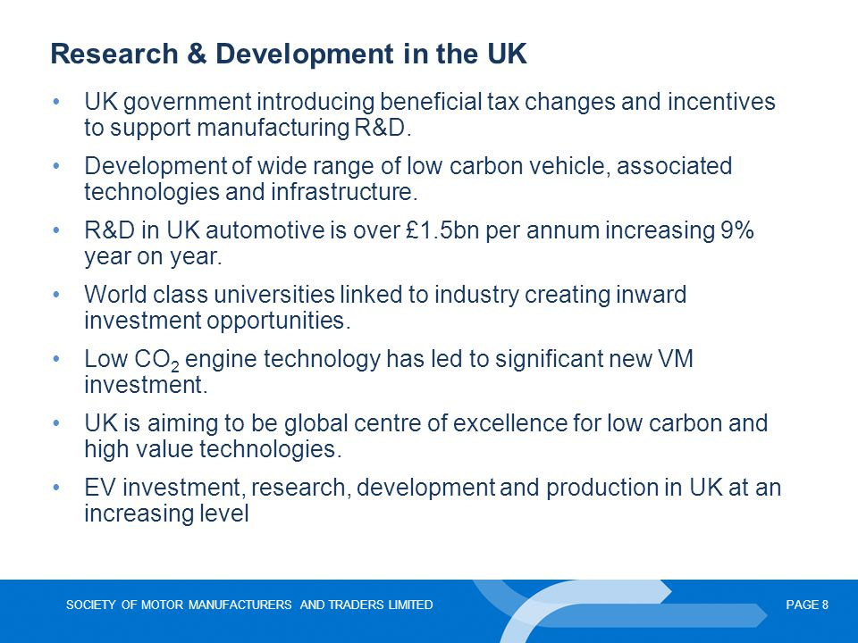 Research & Development in the UK