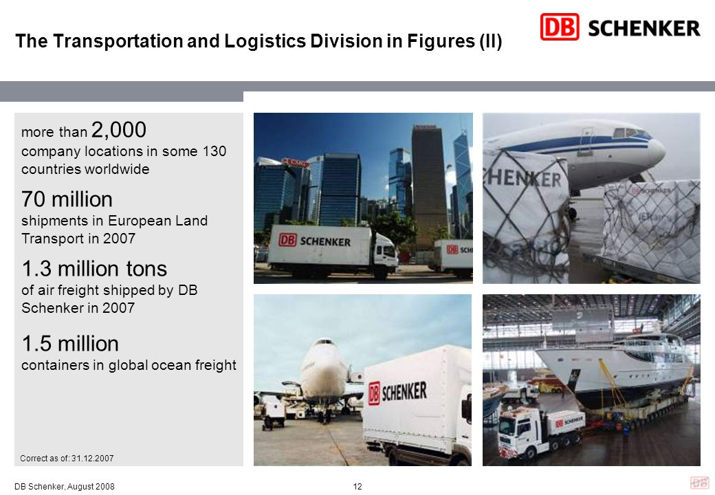 The Transportation and Logistics Division in Figures (II)