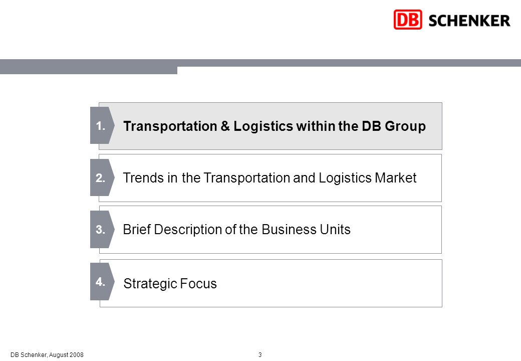 Transportation & Logistics within the DB Group