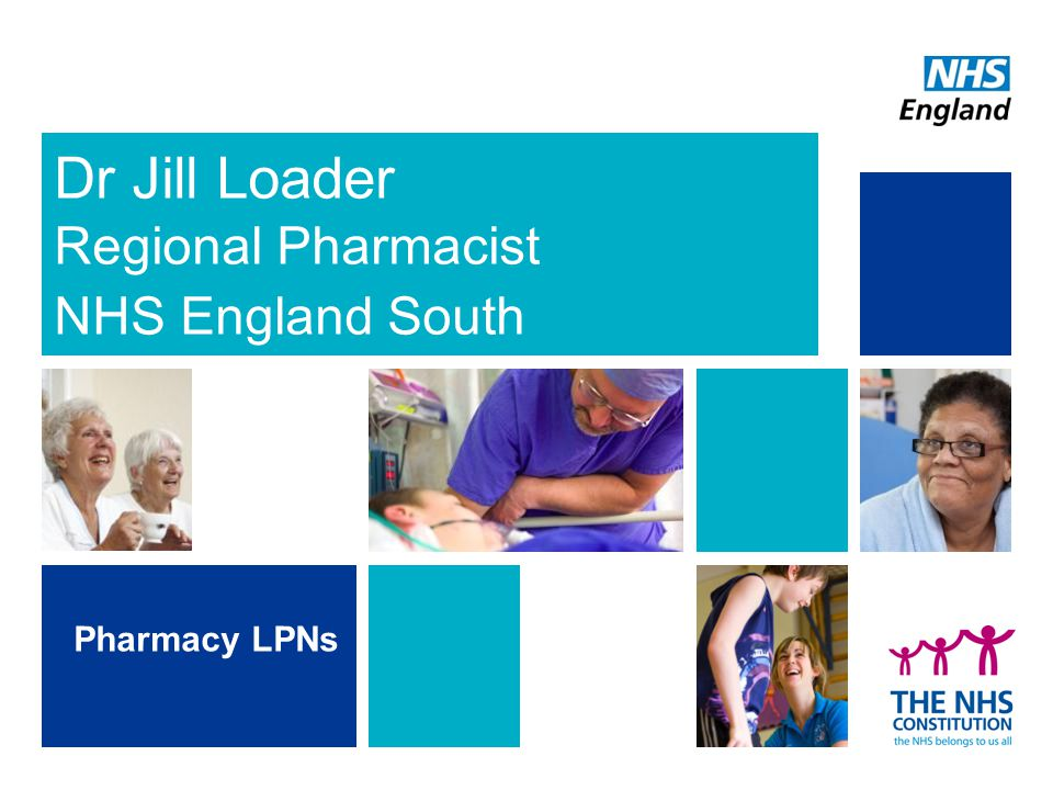 Dr Jill Loader Regional Pharmacist NHS England South