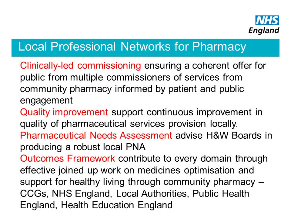 Local Professional Networks for Pharmacy