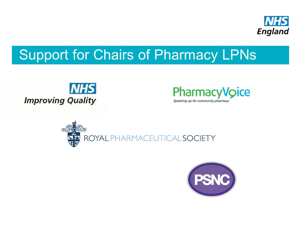 Support for Chairs of Pharmacy LPNs
