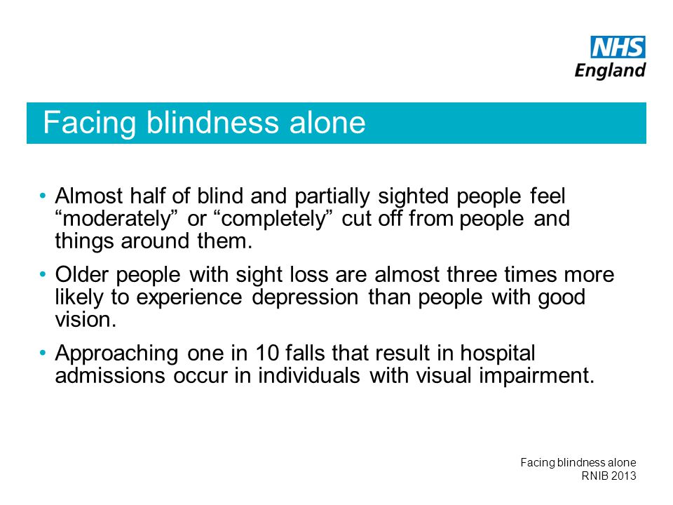 Facing blindness alone