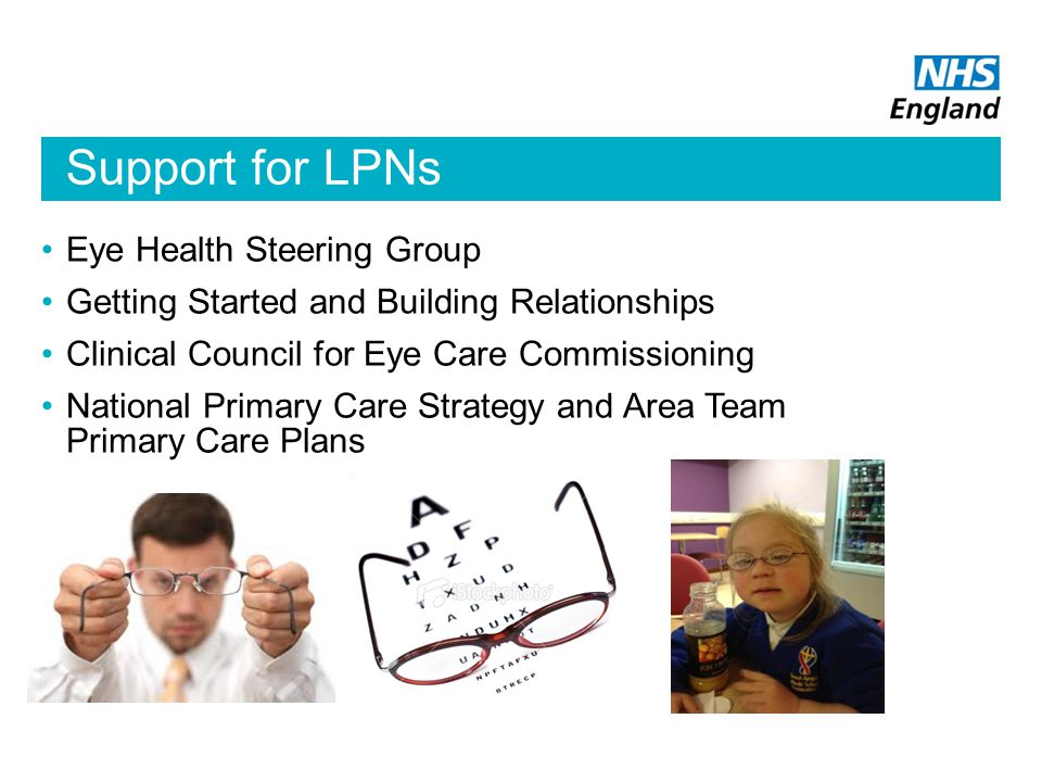 Support for LPNs Eye Health Steering Group