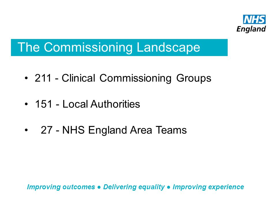 The Commissioning Landscape