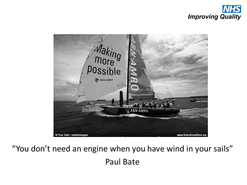 You don't need an engine when you have wind in your sails Paul Bate