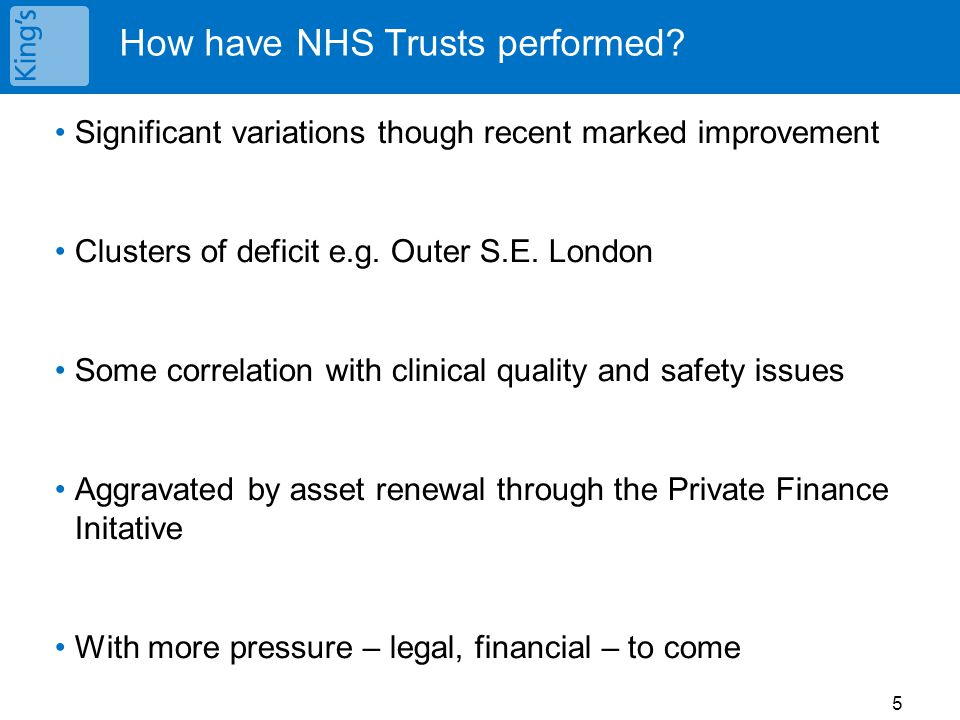 How have NHS Trusts performed