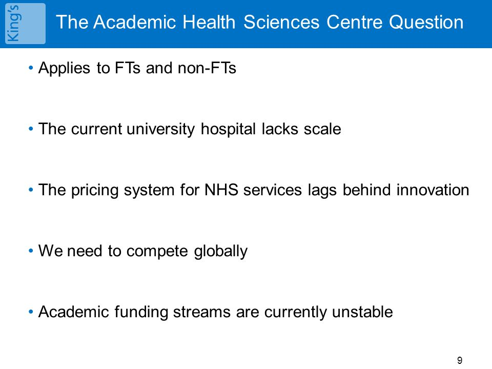 The Academic Health Sciences Centre Question
