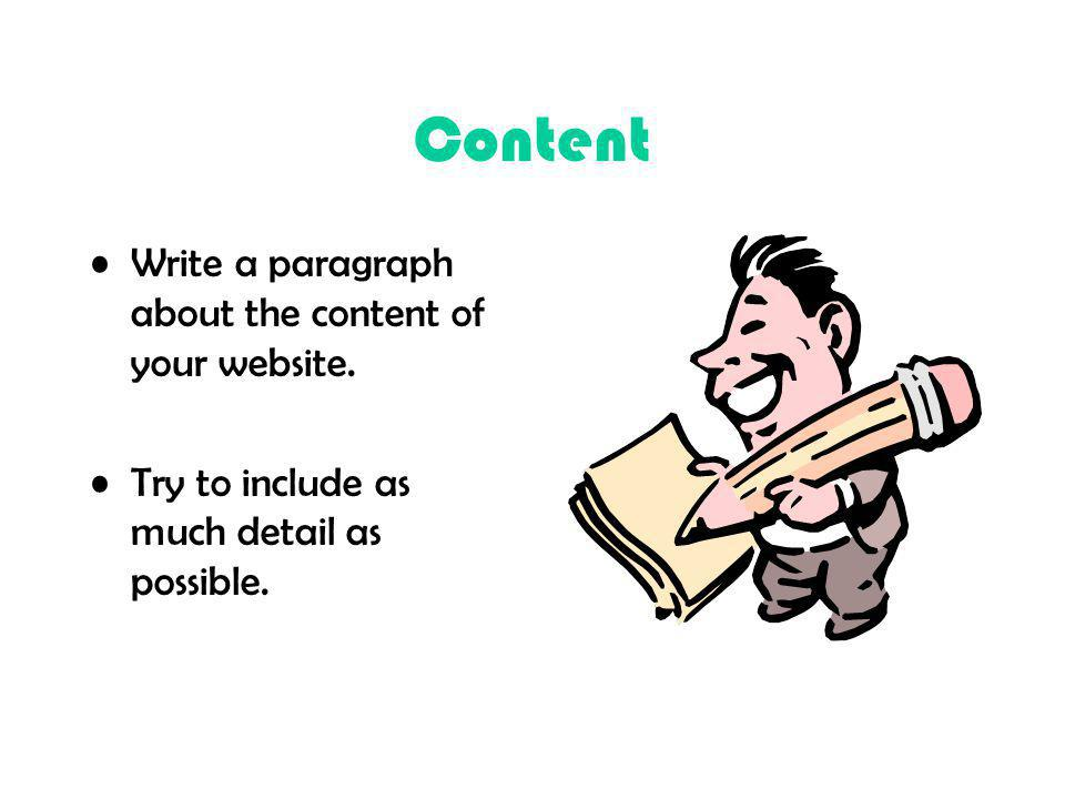 Content Write a paragraph about the content of your website.
