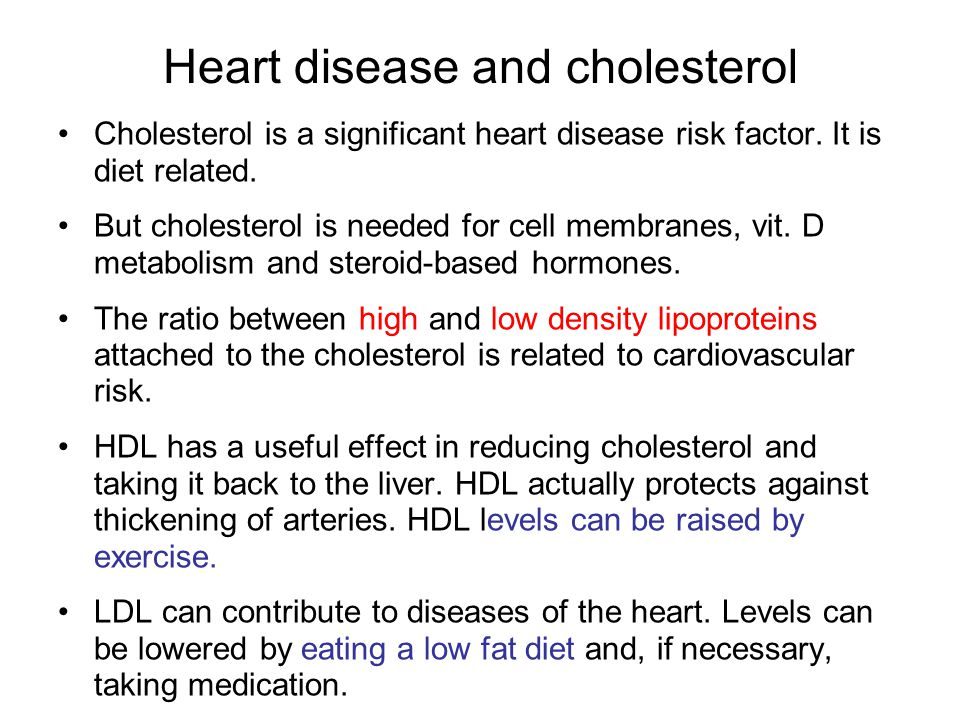 Heart disease and cholesterol