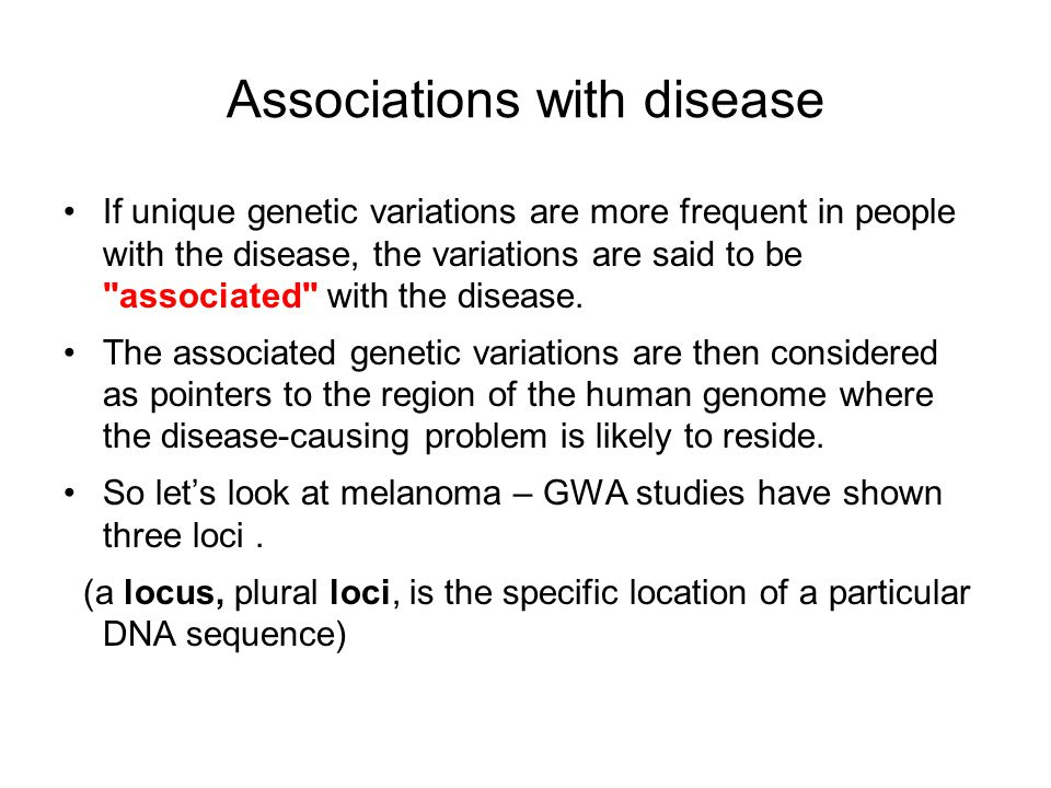 Associations with disease