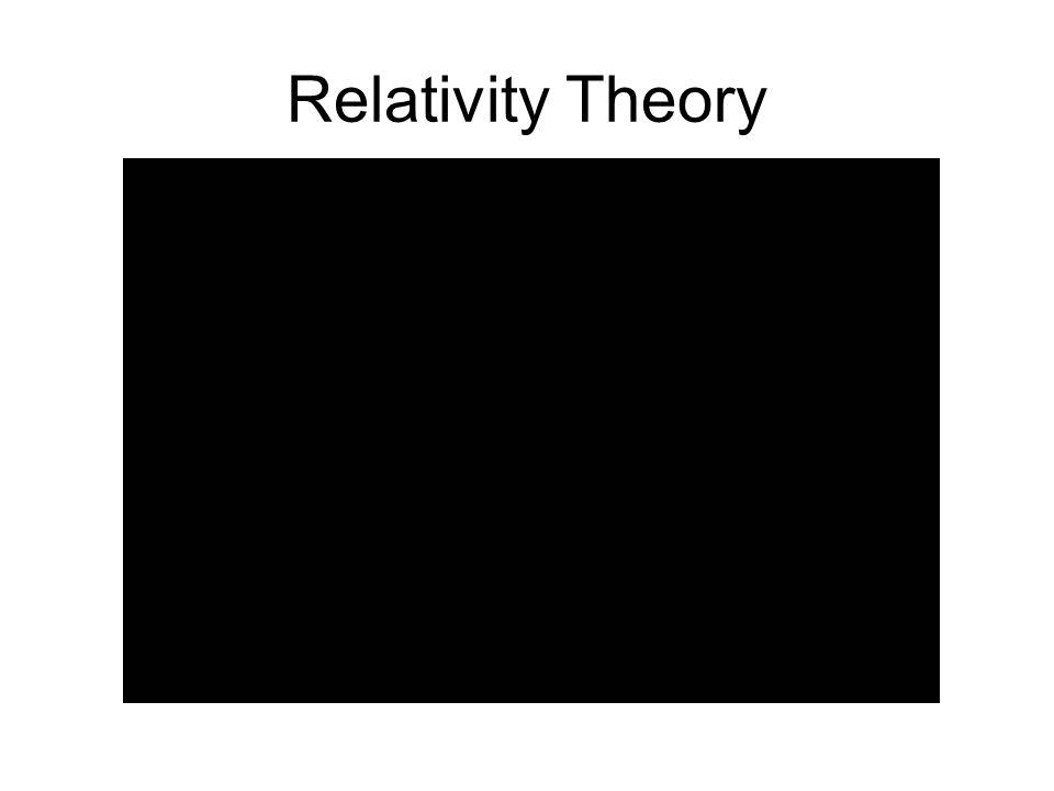 Relativity Theory http://www.youtube.com/watch v=p80IhaBz51M