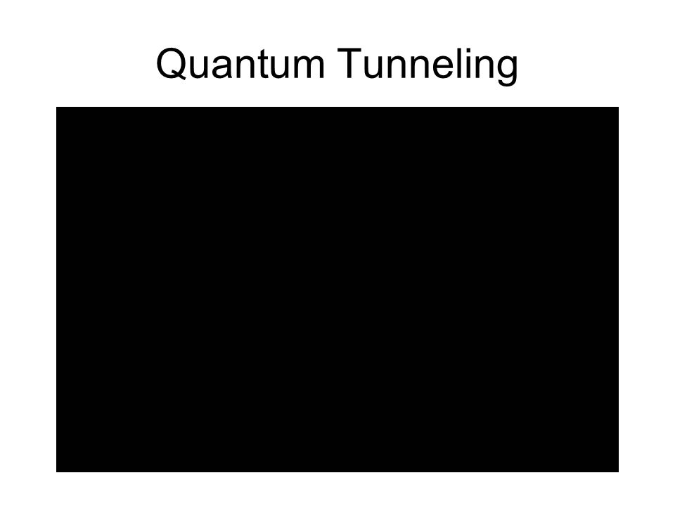 Quantum Tunneling http://www.youtube.com/watch v=6LKjJT7gh9s