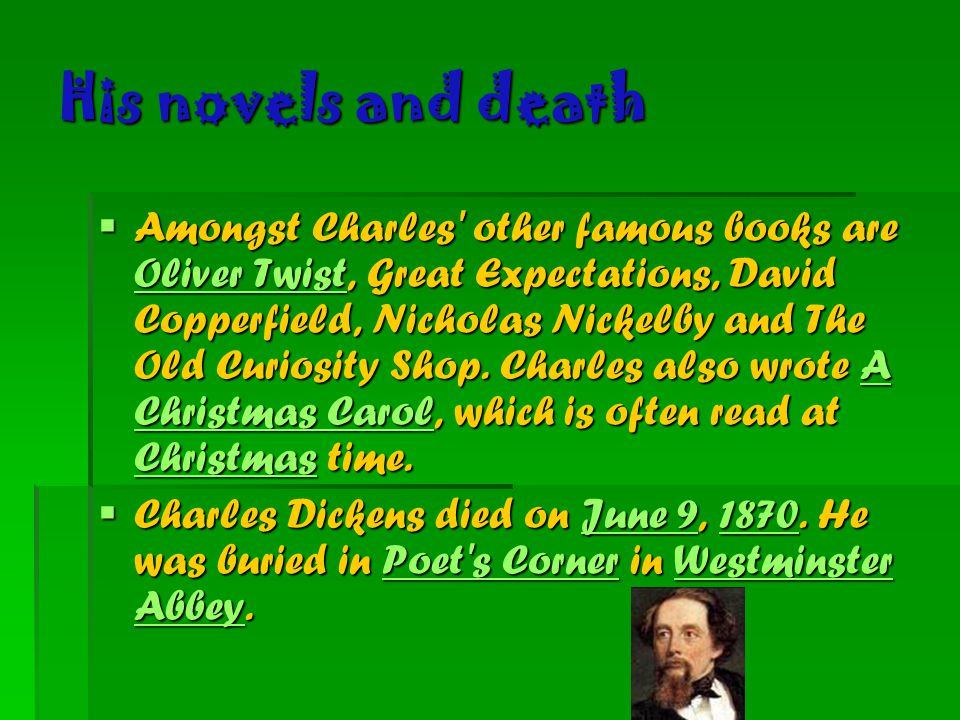 His novels and death