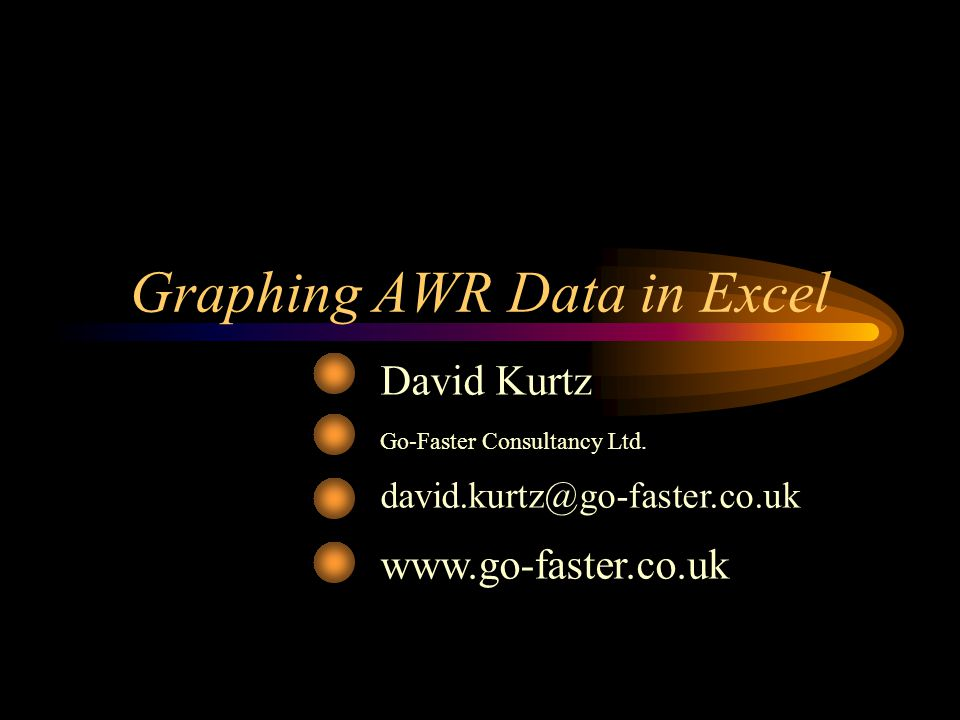 Graphing AWR Data in Excel