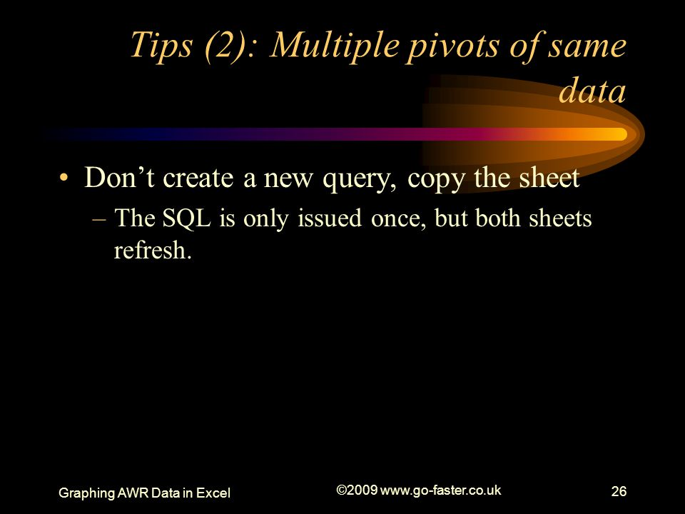 Tips (2): Multiple pivots of same data