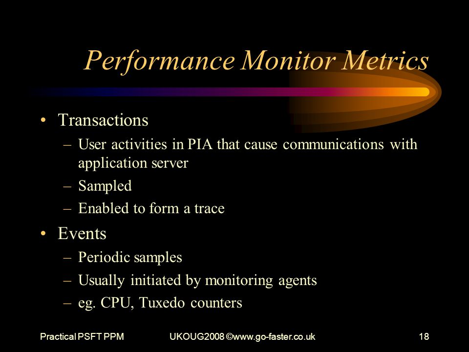 Performance Monitor Metrics