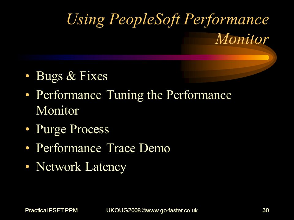 Using PeopleSoft Performance Monitor