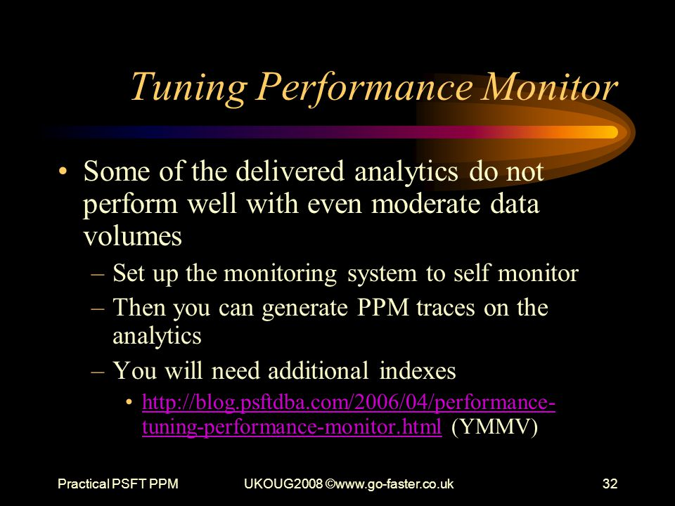 Tuning Performance Monitor