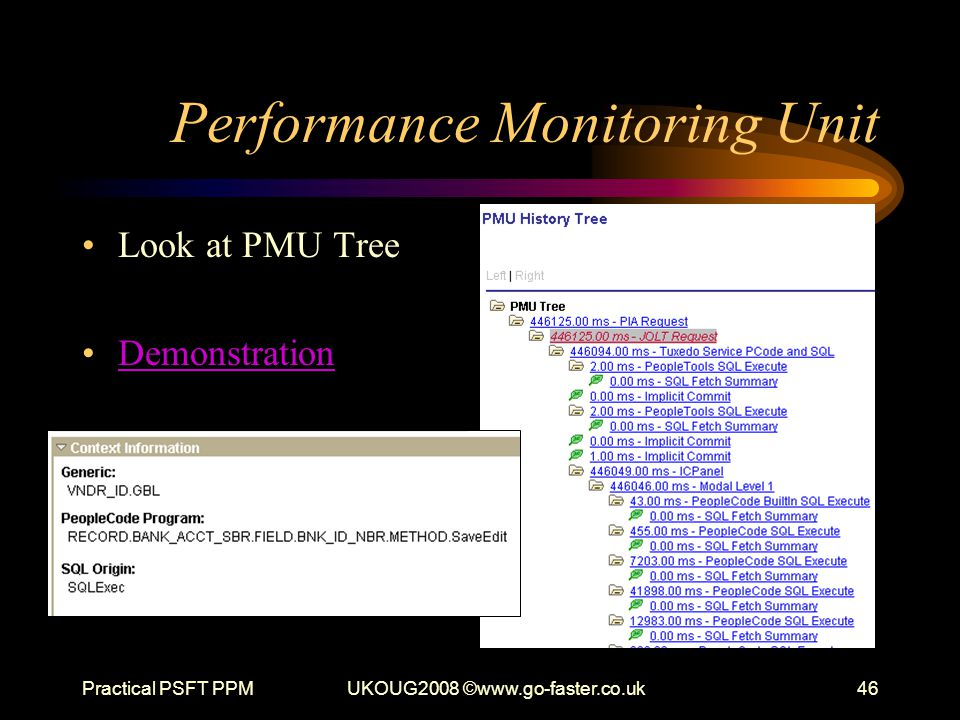 Performance Monitoring Unit