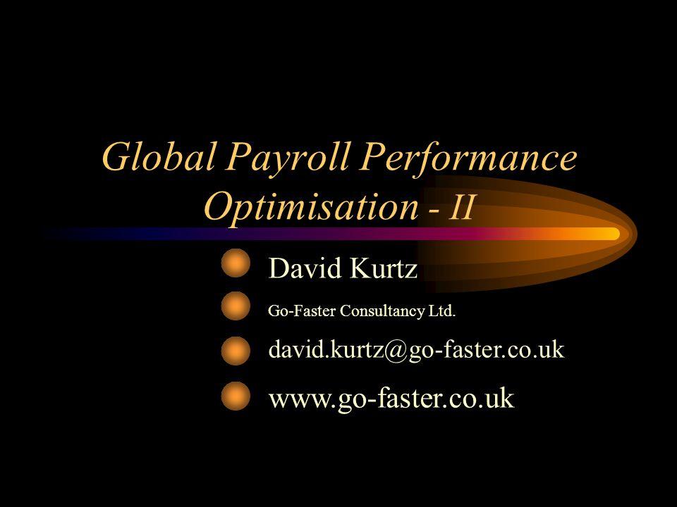 Global Payroll Performance Optimisation - II
