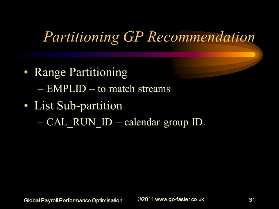 Partitioning GP Recommendation