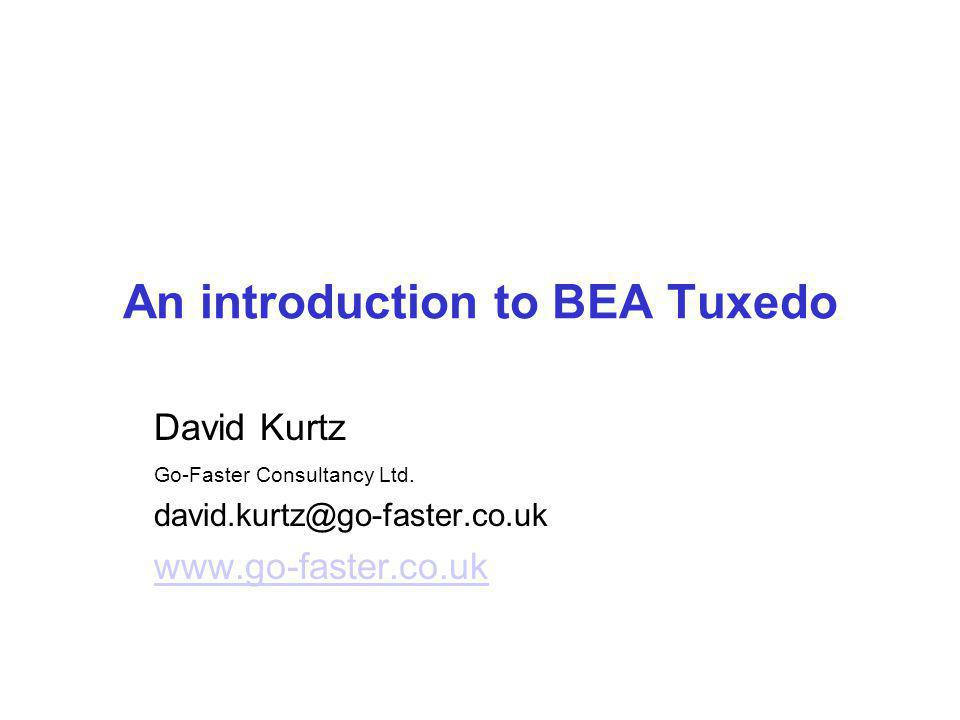 An introduction to BEA Tuxedo