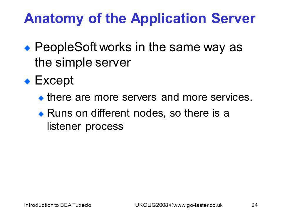 Anatomy of the Application Server