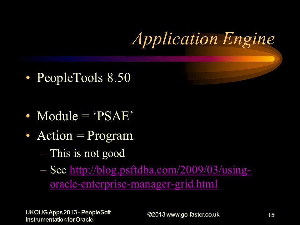 Application Engine PeopleTools 8.50 Module = 'PSAE' Action = Program