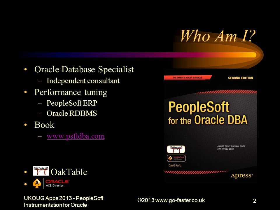 UKOUG Apps 2013 - PeopleSoft Instrumentation for Oracle